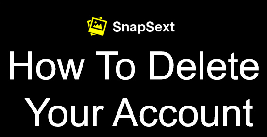 snapsext delete account