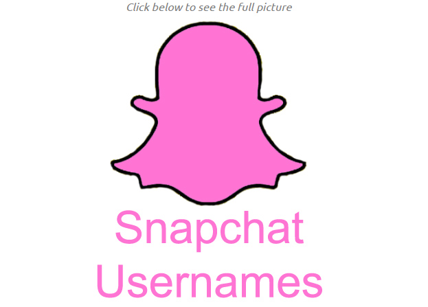 list of snapchat usernames