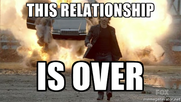 Relationship is over