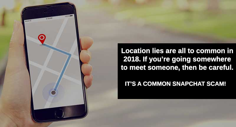 lies about your location on snapchat