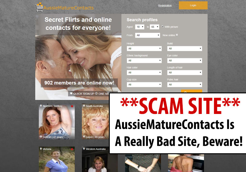 aussiematurecontacts scam