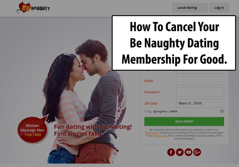 Cancel Your Be Naughty Membership