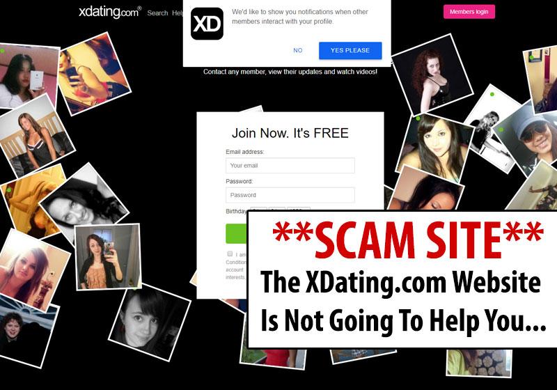 homepage of xdating.com