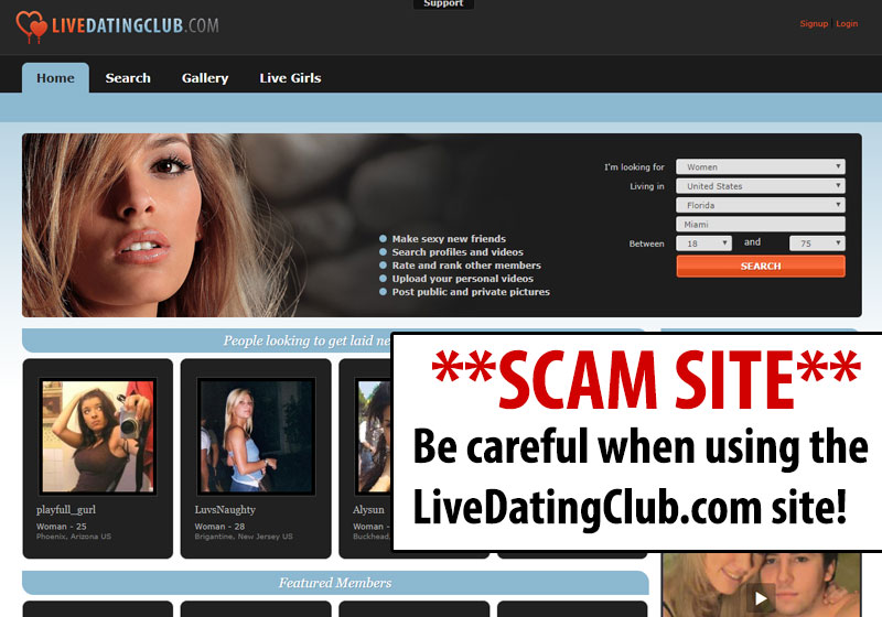 live dating club review