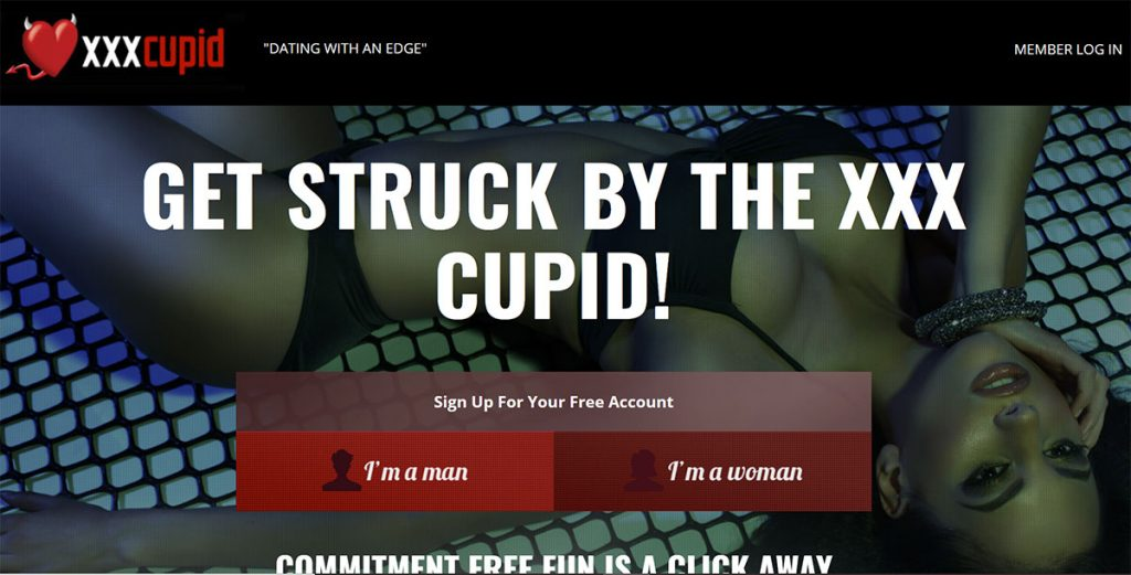 Screenshot of the XXX Cupid homepage