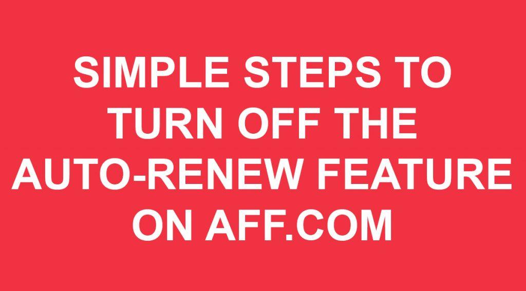 Turn off Auto-Renew on AFF